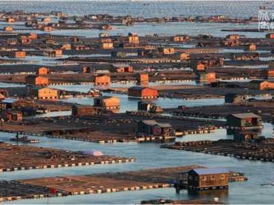 浮动着的海上水城—东安岛鱼排 霞浦东安岛