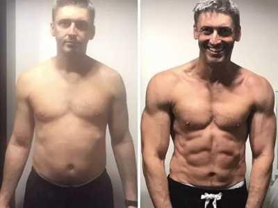 一组男女健身前后对比照 男女健身恩爱高清图片