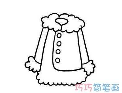 女士衣服怎幺画女生外套的画法简笔画图片 女衣服上画