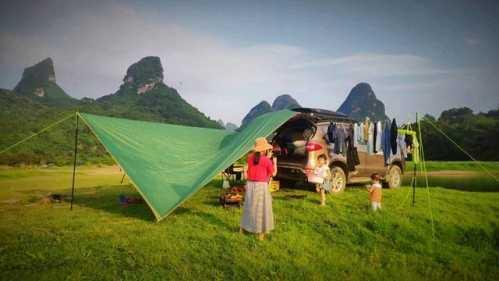 带娃自驾露营游广西山水第五天 广西自驾露营