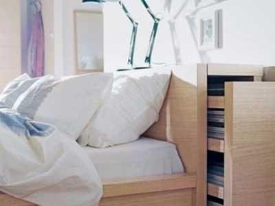 挪开20cm收纳空间能多出超乎你想象 可在墙上收纳的床