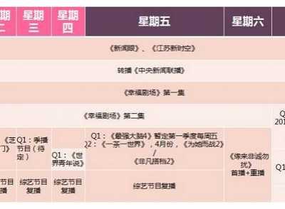2017年江苏卫视综艺节目表 江苏综艺节目单