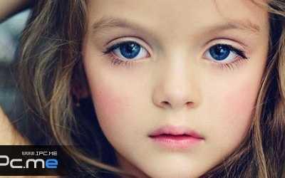 俄罗斯四岁超萌小模特 米兰-库尔尼科娃